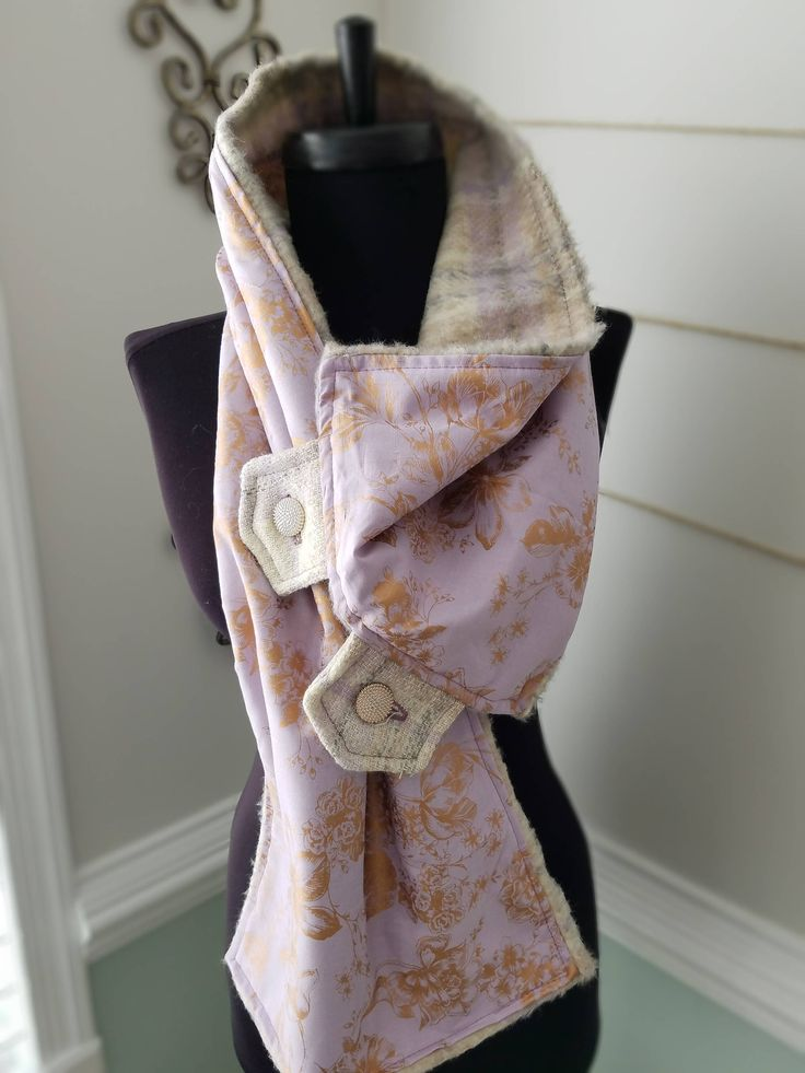 Excited to share the latest addition to my #etsy shop: Lavender Scarf, Rose Gold Scarf, Lavender & Rose Gold Scarf, Wool Scarf, Purple Scarf, Gold Scarf, Lavender Neck Warmer, pastel scarf