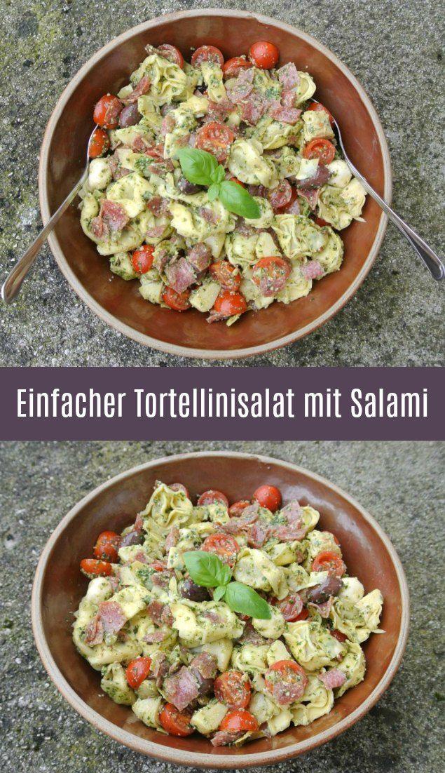 Einfacher Tortellinisalat mit Salami