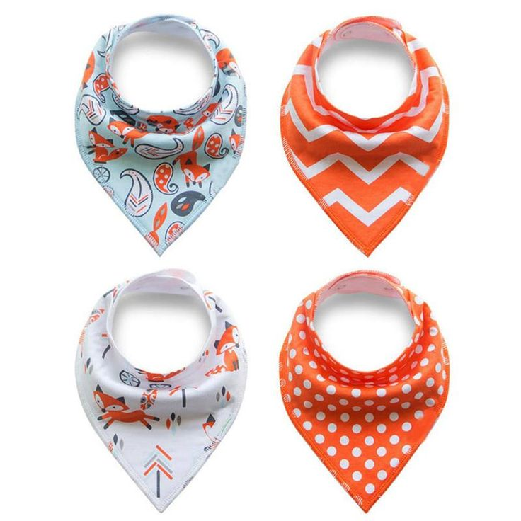 Blissful Bubs Bandana Bib 4pc Set