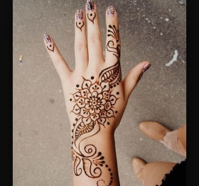 Easy henna design perfect for beginners!!!