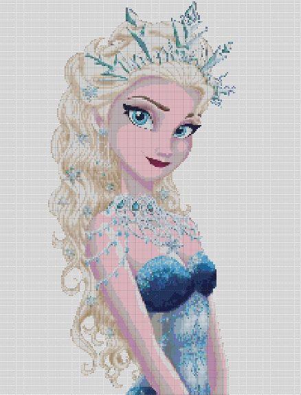 Cross Stitch Pattern oder Kit Ice Queen Elsa Princess von dueamici