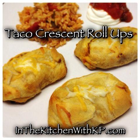 Taco Night Leftovers? Make Taco Crescent Roll Ups