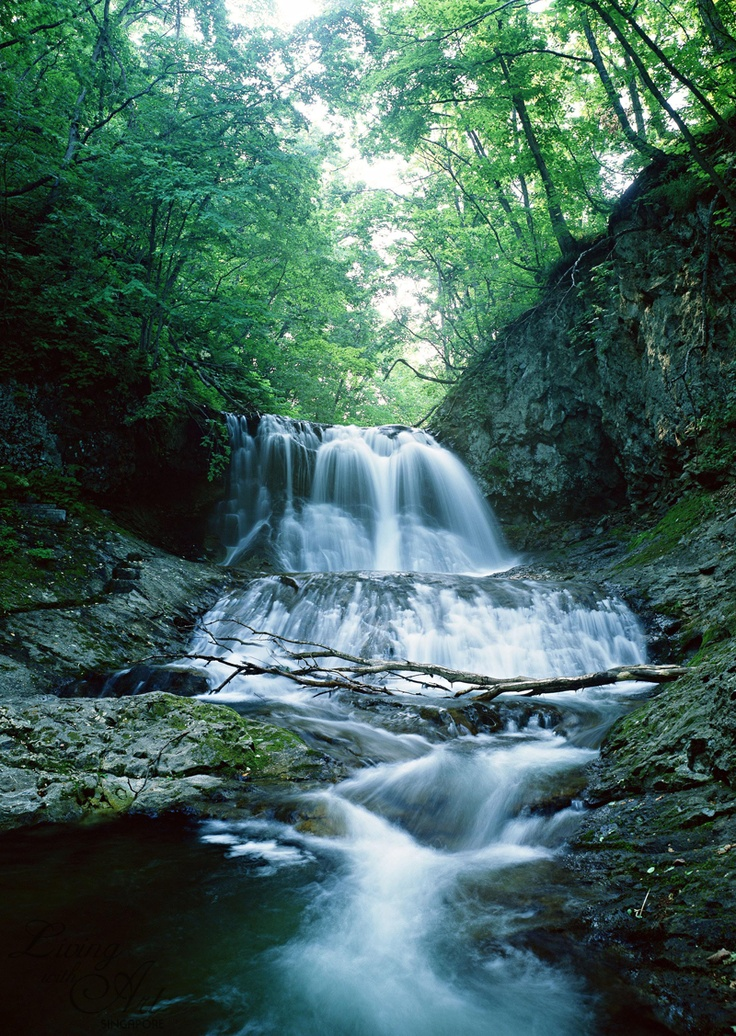 77 best images about home decor wallpapers waterfall on for Wallpaper home singapore