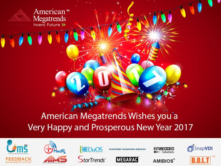 American Megatrends India Wishes you a very #Happy and prosperous #NewYear 2017