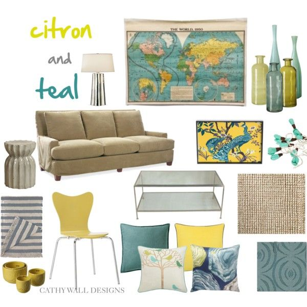 Citron And Teal Room