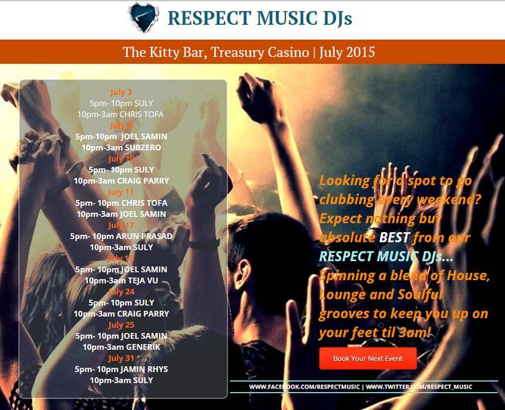 Respect Music DJs - July Line Up