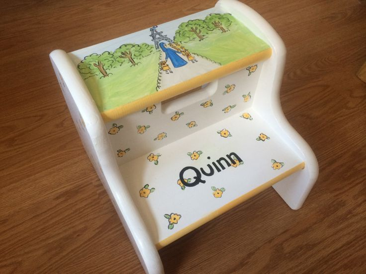 madeline step stool hand painted chidu0027s step stool personalized kids step stools by babydreamdecor & 40 best hand painted step stools images on Pinterest | Hand ... islam-shia.org