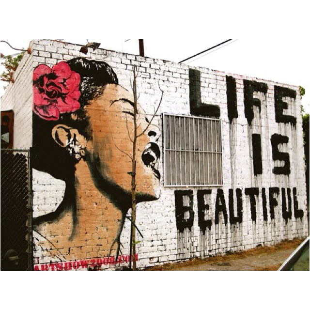 billie holiday life is beautiful mural for fun
