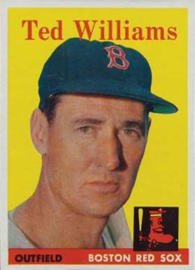 ted williams baseball cards   1958 Topps Ted Williams #1 Baseball Card Value Price Guide
