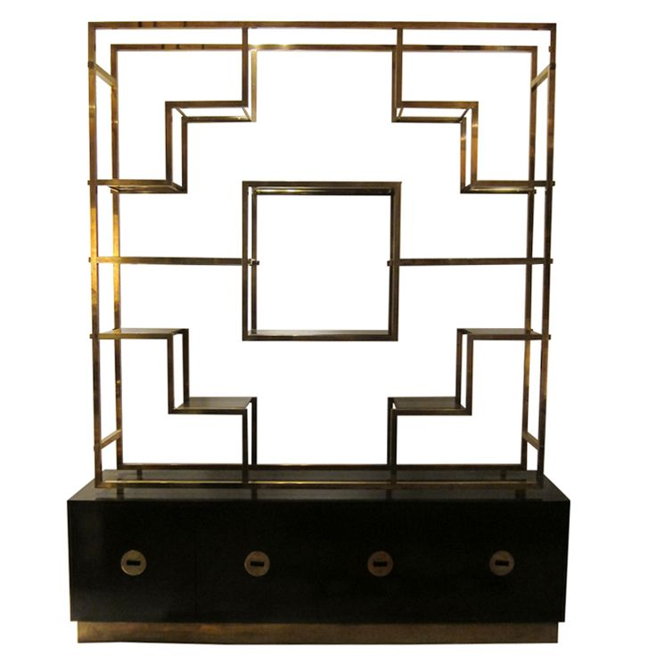 1stdibs   A Big Double Face Etagere Or Bookcase By Paul Rivas. France 1970  Explore