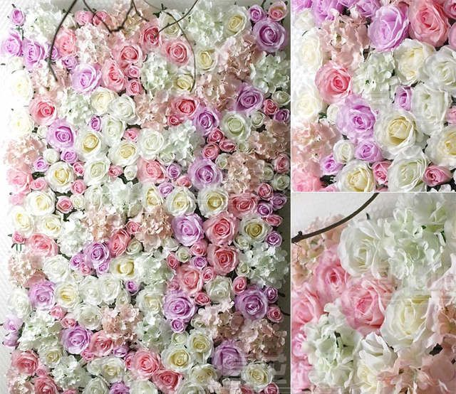 Online Shop Plastic Artificial Flower Holder For Wall And Arch Wedding Decoration 60 40cm Aliexpress Mob Flower Wall Wedding Flower Wall Flower Wall Backdrop