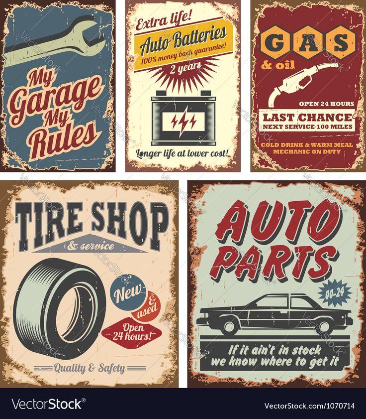 Vector image of Vintage car signs Vector Image, includes car, background, pattern, retro & design. Illustrator (.ai), EPS, PDF and JPG image formats.