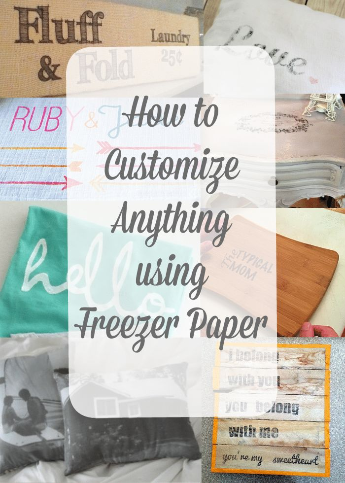 How to print using freezer paper. Customize t shirts, wood signs, pillows and more using freezer paper techniques and a how to video too.