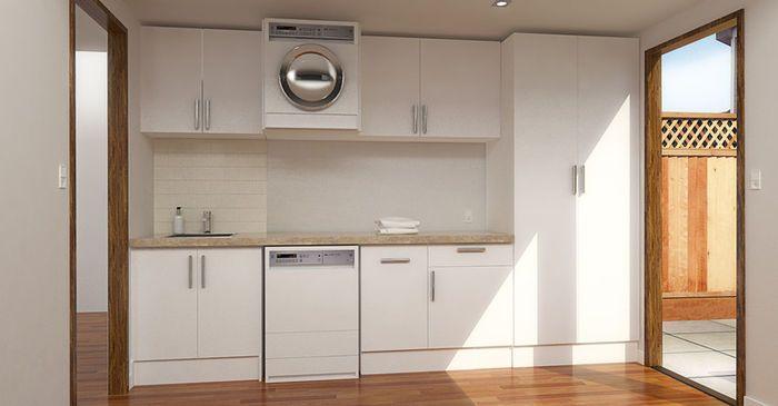 Open Plan Custom Laundry Cabinets