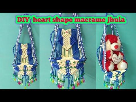 DIY heart shape macrame jhula