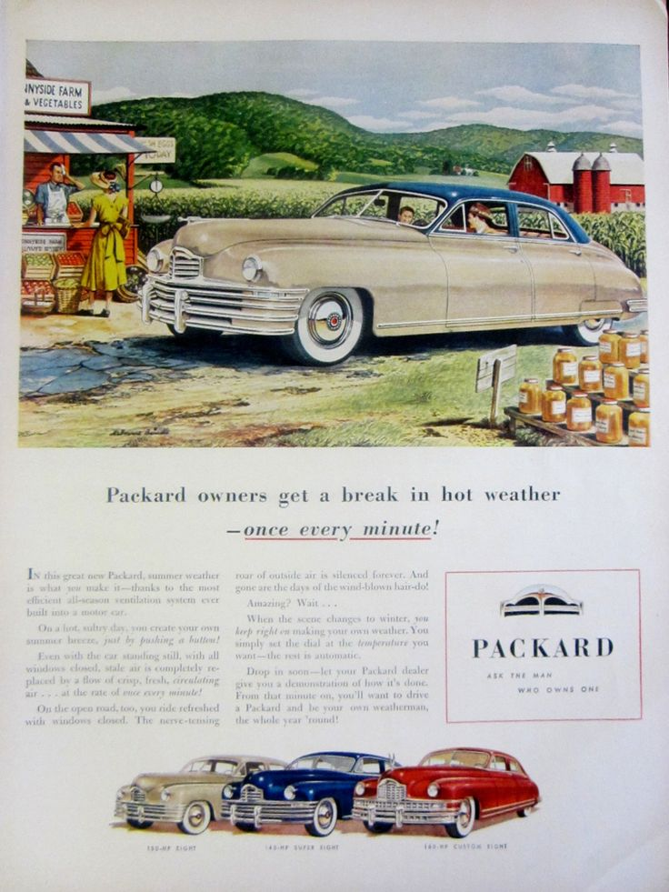 1948 Packard Automobiles Vintage Advertisement Automotive Wall Art Classic Car Decor Melbourne Brindle Art Original Magazine Print Ad by RelicEclectic on Etsy