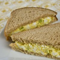 Egg Salad: Removing some of the egg yolks cuts down the calories, fat and cholesterol found in traditional egg salad