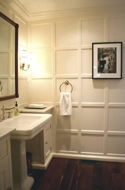 paneling -- love! Great for a focus wall in Master Bedroom.