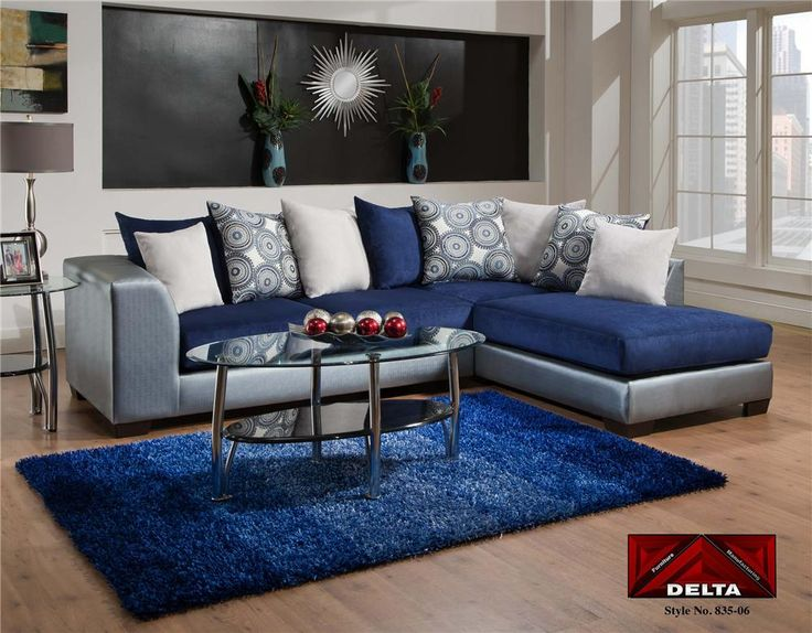 Delta Shazam Ice Blue And Silver 2 Piece Sectional Perfect For A Pretty Cly Dallas Cowboys Inspired Cave