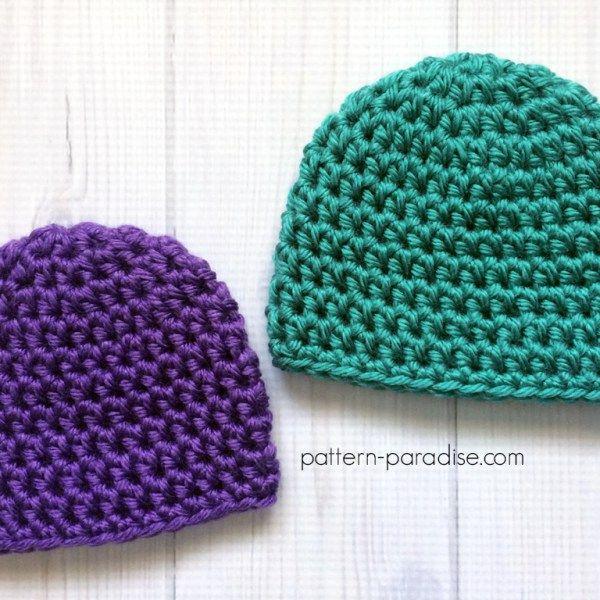 Easy Preemie Hat: FREE crochet pattern