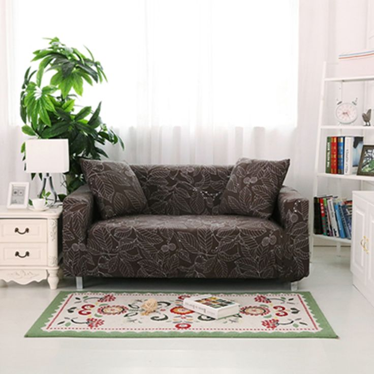 Cheap Printed Sofa Covers, Buy Quality Sofa Cover Directly From China L  Shaped Sofa Cover Suppliers: Brown Leave Print Sofa Cover All Inclusive  Seater Sofa ...