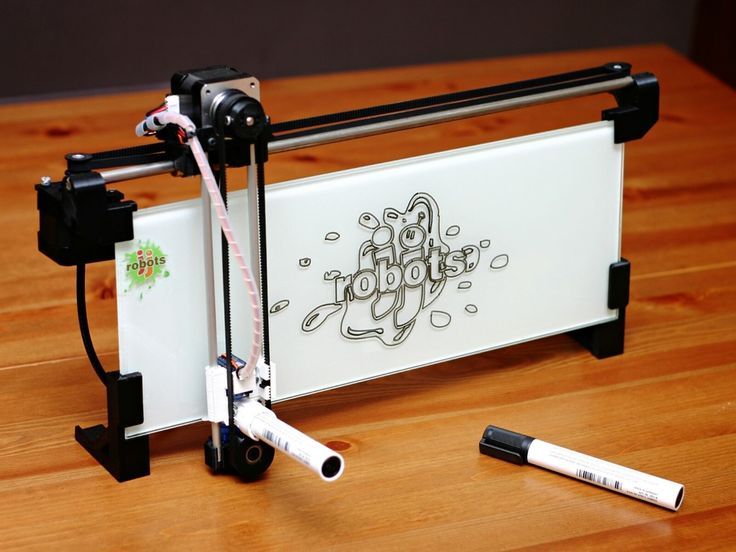 iBoardbot. The internet controlled whiteboard robot project video thumbnail