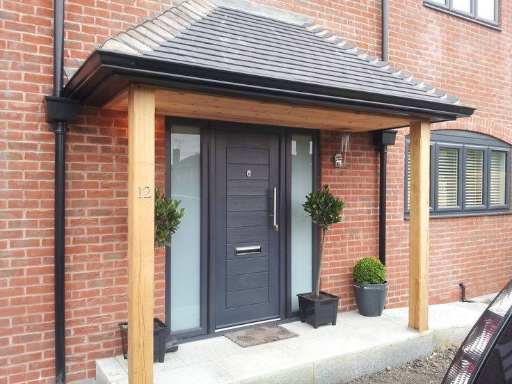 Perfect Black Front Door With Glass Side Panels