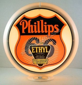Phillips 66 Ethyl Burst 13.5 Inch Gas Pump Globes - Vic's 66 - Gas Pump Parts, Globes and Memorabilia