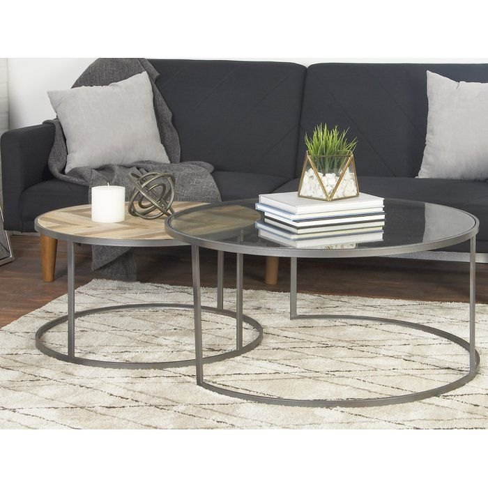 Orkney Contemporary 2 Piece Coffee Table Set Coffee Table