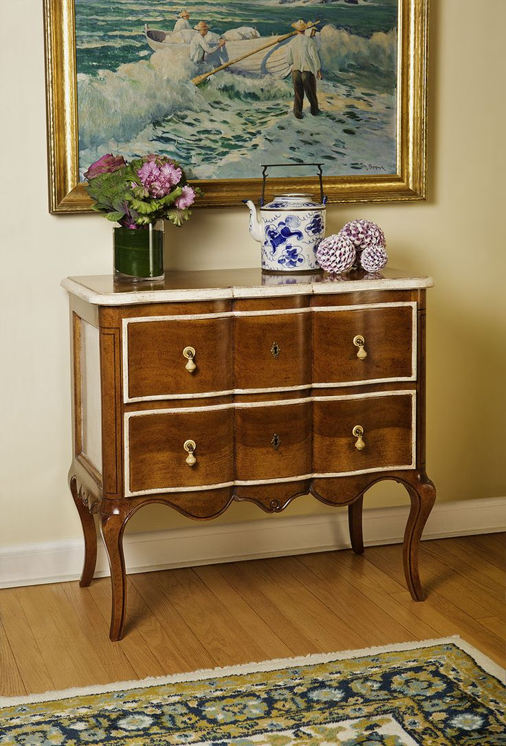 Louis xv bedroom furniture - Interior With Louis Xv Style Two Drawer Chest With Hand Painted Antiqued Light Walnut Finish Luxury Furniturebedroom