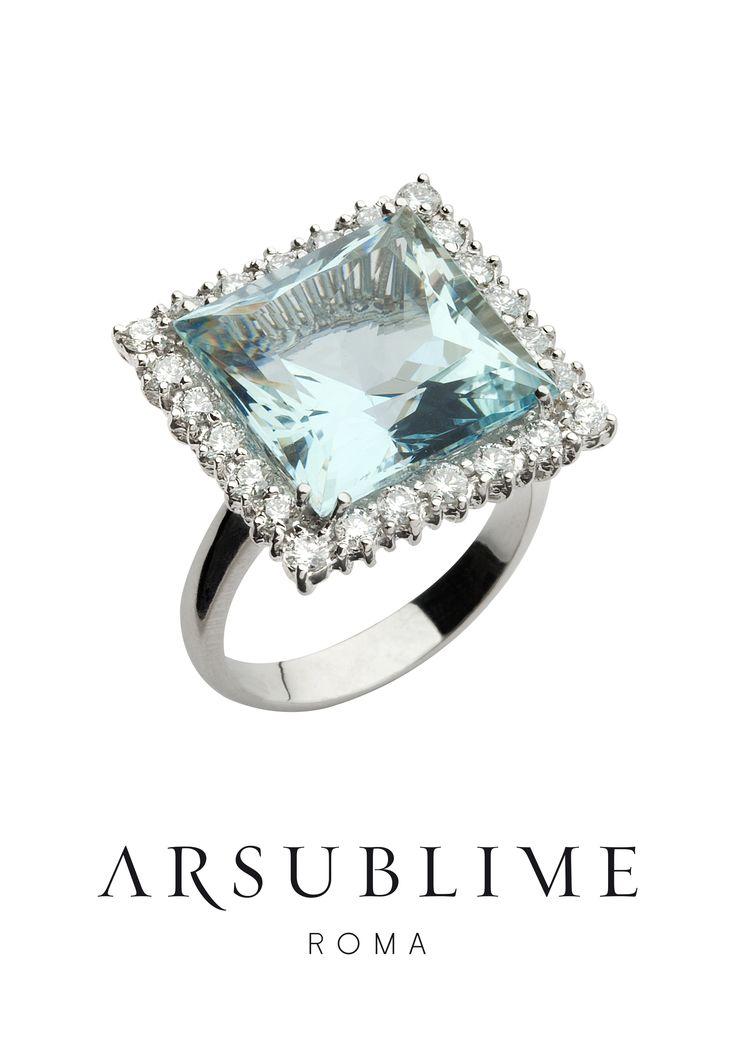 #arsublime #roma #ring #anello #princess #aquamarine #collection #italian #artisana #luxury #gioiellitaliani #passion #finejewellery #diamond #designjewellery #style #classic #precious #madeinitaly