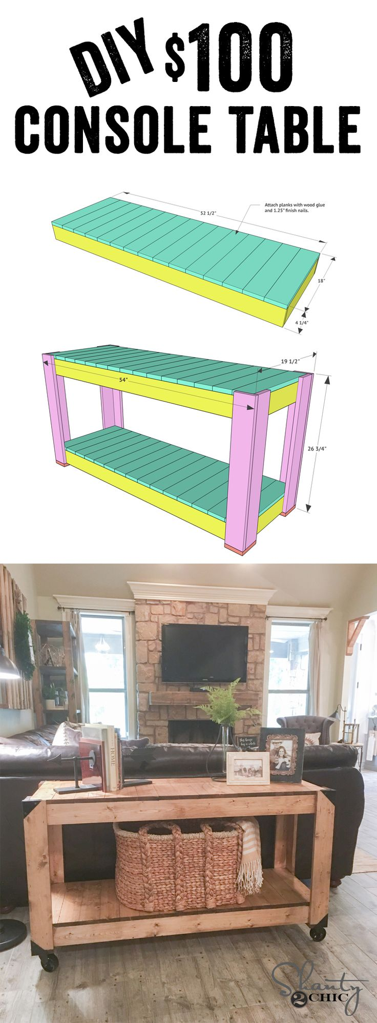 Best 25 sofa table redo ideas on pinterest gray wood stains diy console table and youtube video geotapseo Gallery