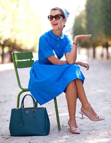 Natalie JoosVintage Chic, Parisians Chic, Prada Bag, 50 Style, Harpers Bazaars, Peter Pan Collars, Street Style, Paris Fashion Weeks, The Dresses