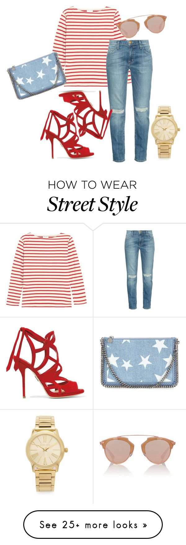"""street style"" by maite15 on Polyvore featuring Yves Saint Laurent, Current/Elliott, Paul Andrew, Christian Dior, Michael Kors and STELLA McCARTNEY"