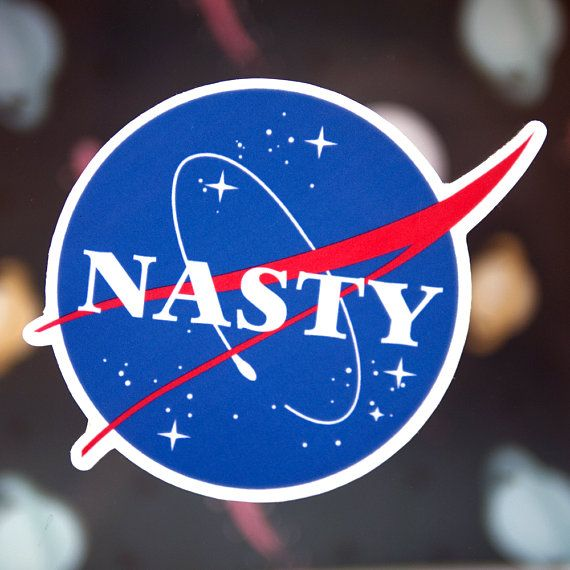 Nasty Woman NASA Sticker  Cool Tumblr Stickers  Girl Power