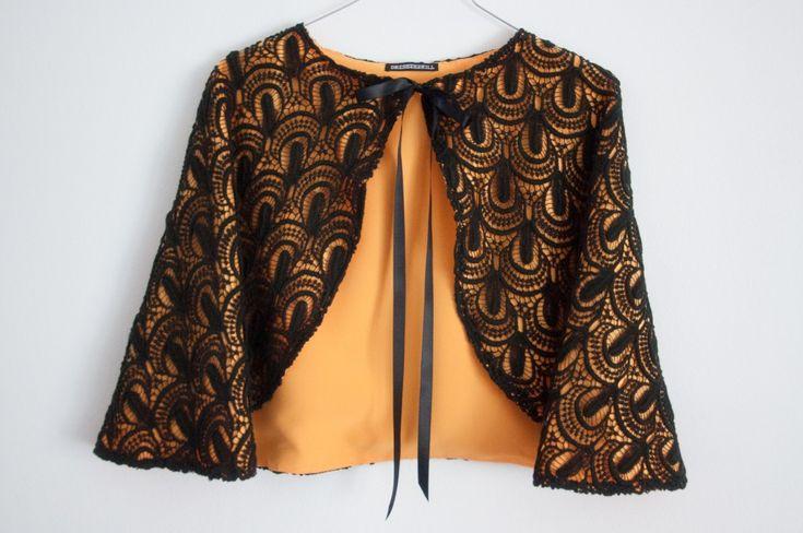 www.dresses2kill.com - Capa guipur negro - A medida
