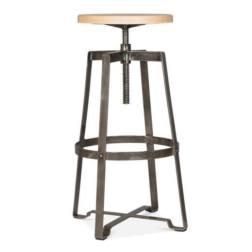 Cult Living 72cm to 89cm Nashville Swivel Stool in Gunmetal | Cult UK  sc 1 st  Pinterest & 54 best Bar stools images on Pinterest | Bar stools Metal bar ... islam-shia.org