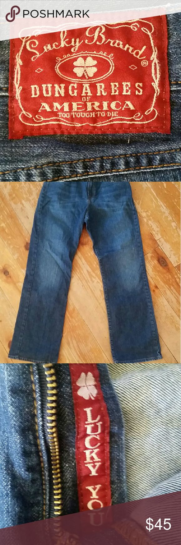Closing sale!!! Lucky jeans Lucy jeans with the classic (and sexy) lucky you zipper! Very lightly worn. Make me an offer! Lucky Brand Pants Straight Leg