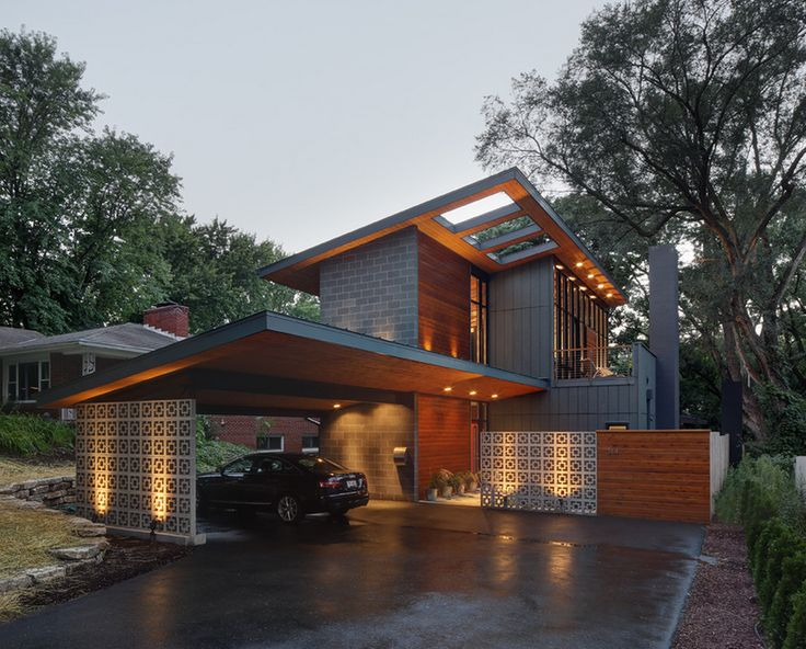 43 best house on slope images on pinterest architecture for Courtyard landscape oostburg wi