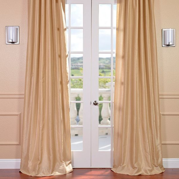 Half Price Drapes Vintage Textured Faux Dupioni Rod Pocket Single Curtain Panel Reviews