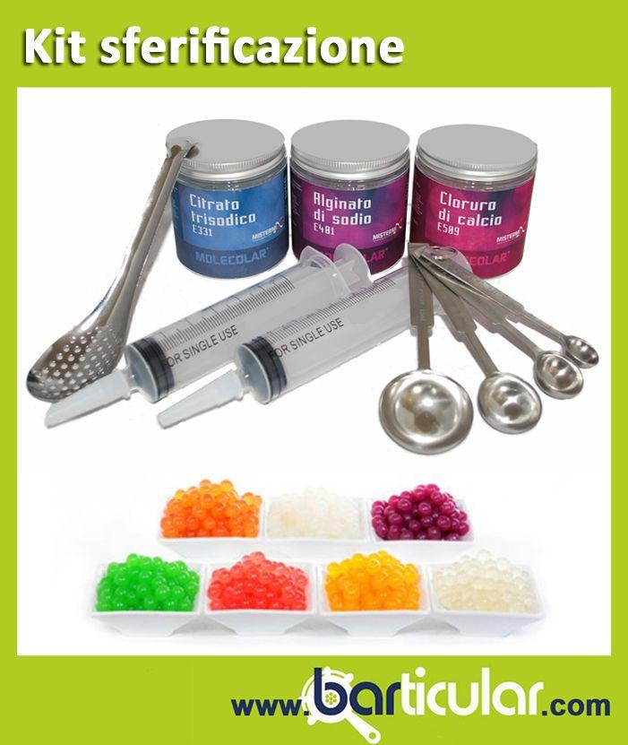 Kit per la sfericazione molecolare. http://www.barticular.com/store/kit-completi-barman/kit-sferificazione-molecolare