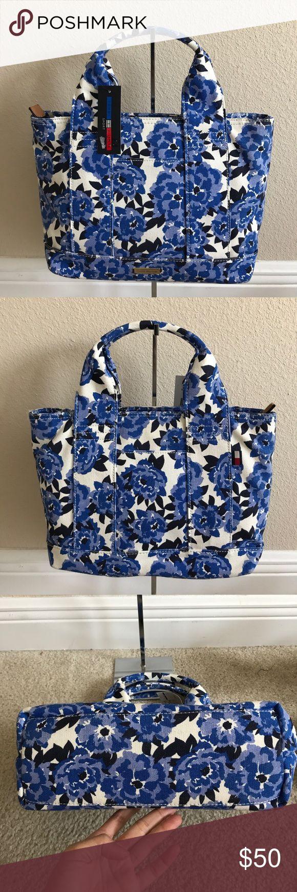 "Tommy Hilfiger shopper handbag Brand new with tag .w 12x L 9 1/2 x d 4"". Tommy Hilfiger Bags"