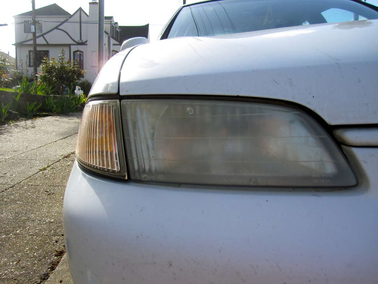 clean car lights with TOOTHPASTE!