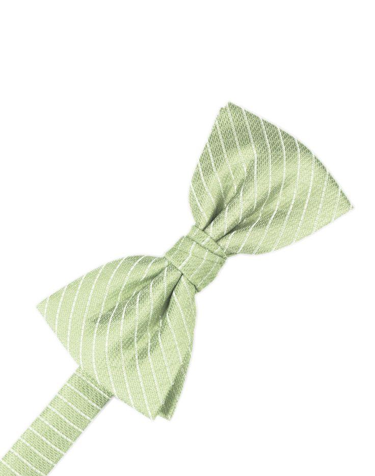 Mint Diamond Grid Pattern Formal Bow Tie