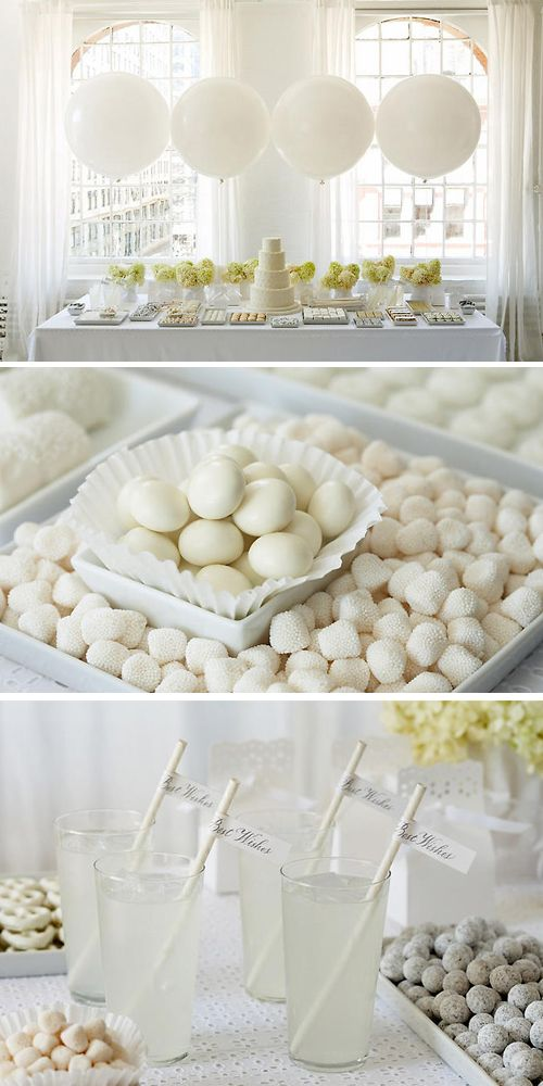 White candy bar - how lovely for a wedding ( ROBS DIGGIN EVERYTHING WHITE )