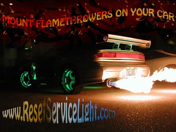 How to mount flamethrowers on your car, universal kit.