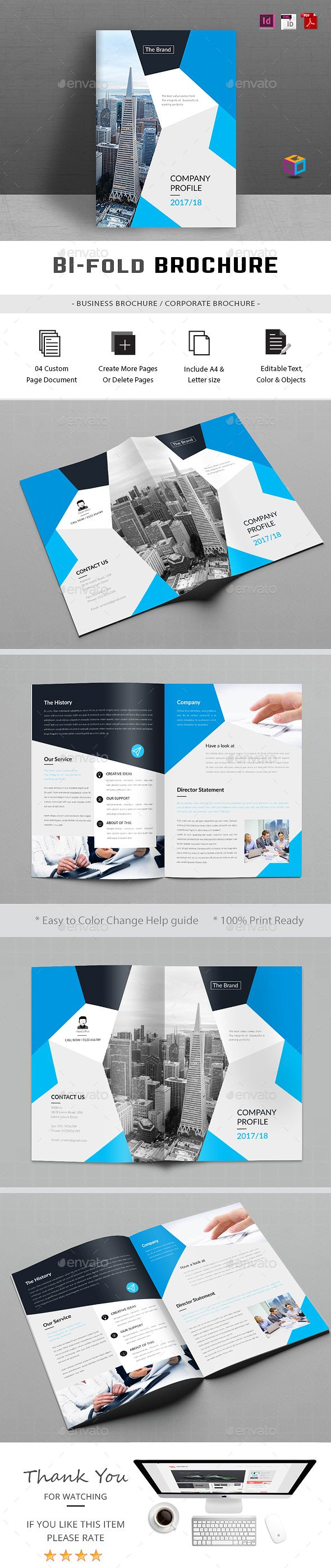 buy corporate bi fold brochure by gdoback on graphicriver file information easy to edit 4 pages mm inches bleeds 5 mm us letter inches ble