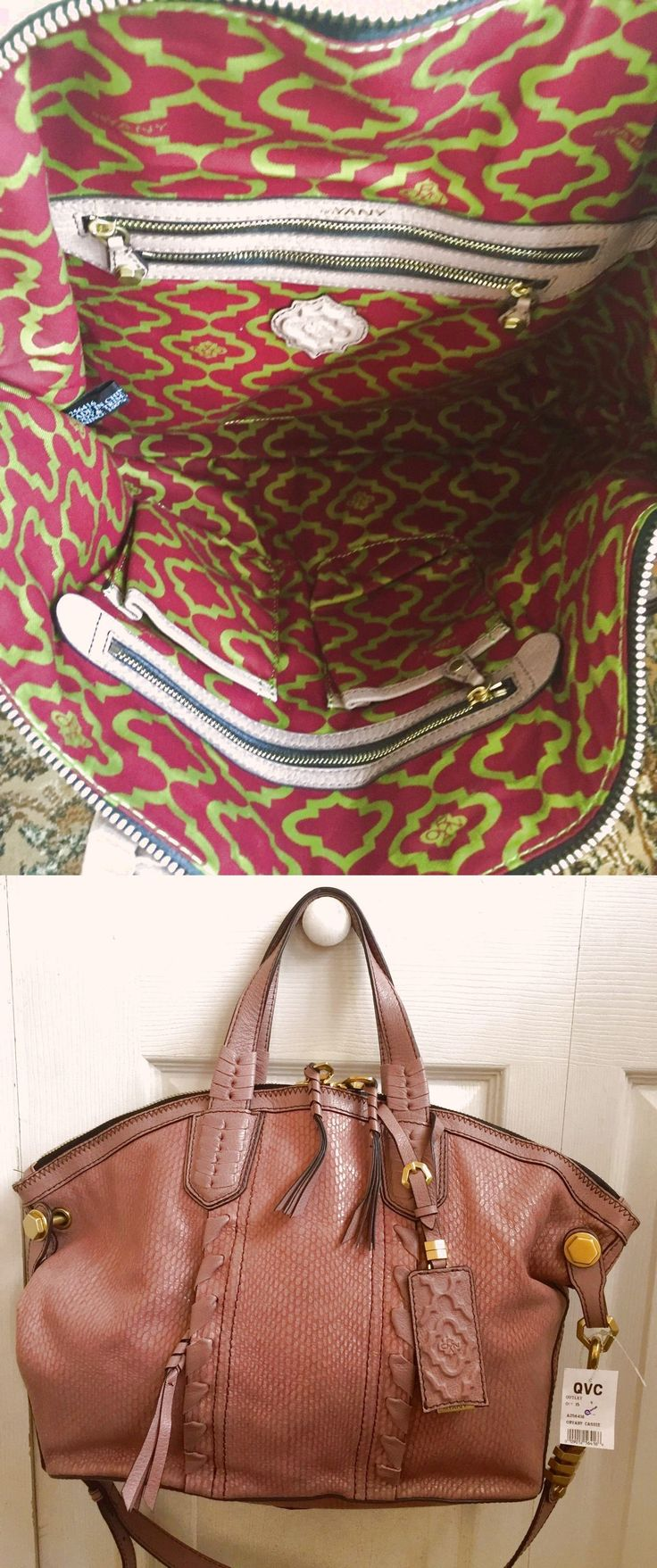 orYANY Cassie Matte Snake Leather Medium Tote $129.99