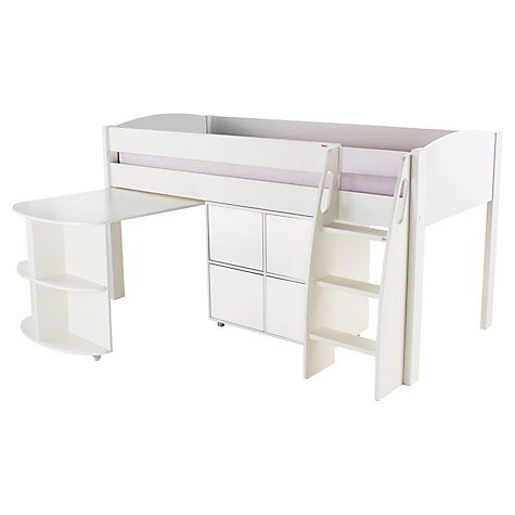 Buy Stompa Uno S Plus Mid-Sleeper with Pull-Out Desk and 4 Door Cube Unit Online at johnlewis.com