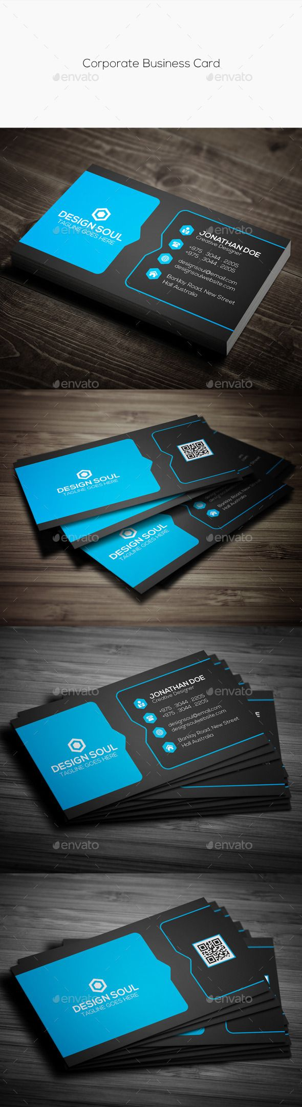 Corporate Business Card Template #design #print Download: http://graphicriver.net/item/corporate-business-card/11949213?ref=ksioks